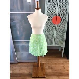 Lilly Pulitzer Vintage Green Jungle Print Skirt